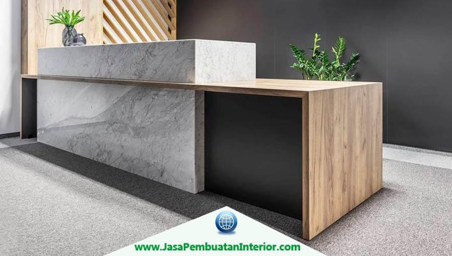 Jasa Pembuatan Meja Resepsionis Surabaya Murah Minimalis